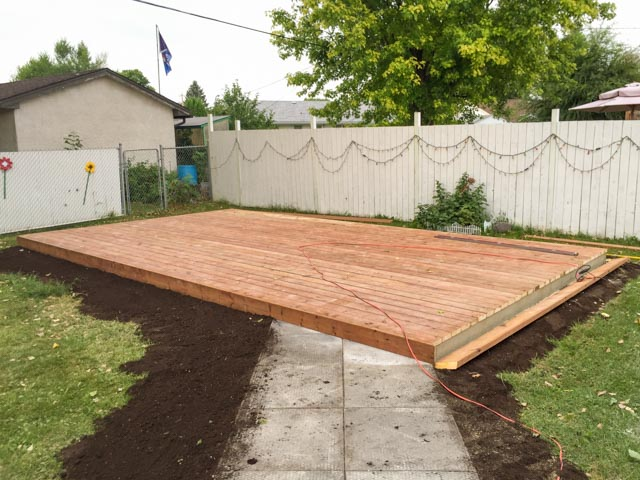 Used Patio Block Re Installation And New Ground Level Deck