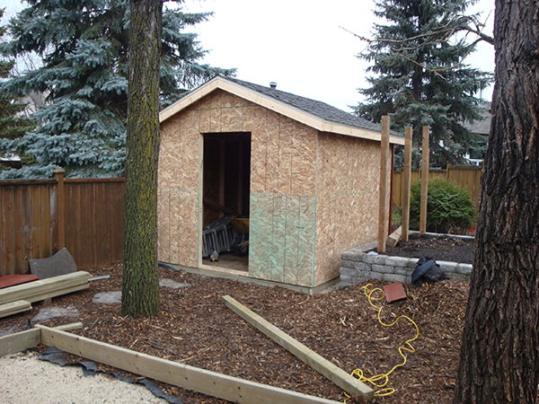 Complete Yard Renovation Natural Wood Mulch Sod Shed