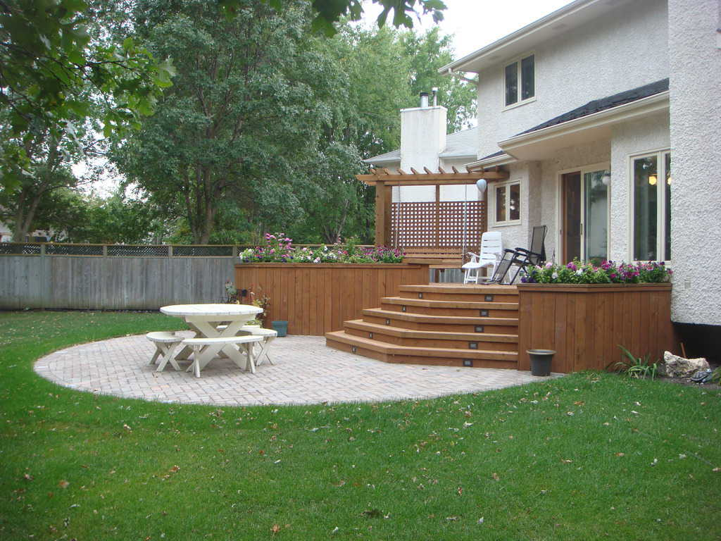 Landscape ideas deck and patio for Garden designs with patio