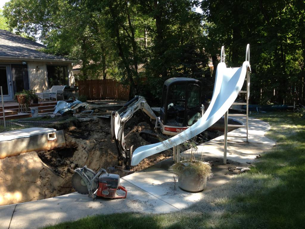 Back yard renovation | Swimming Pool Removal