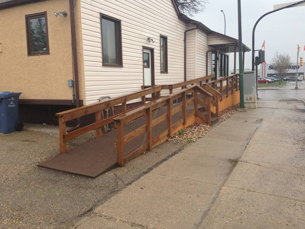 where form meets function: wheel chair ramp in Winnipeg