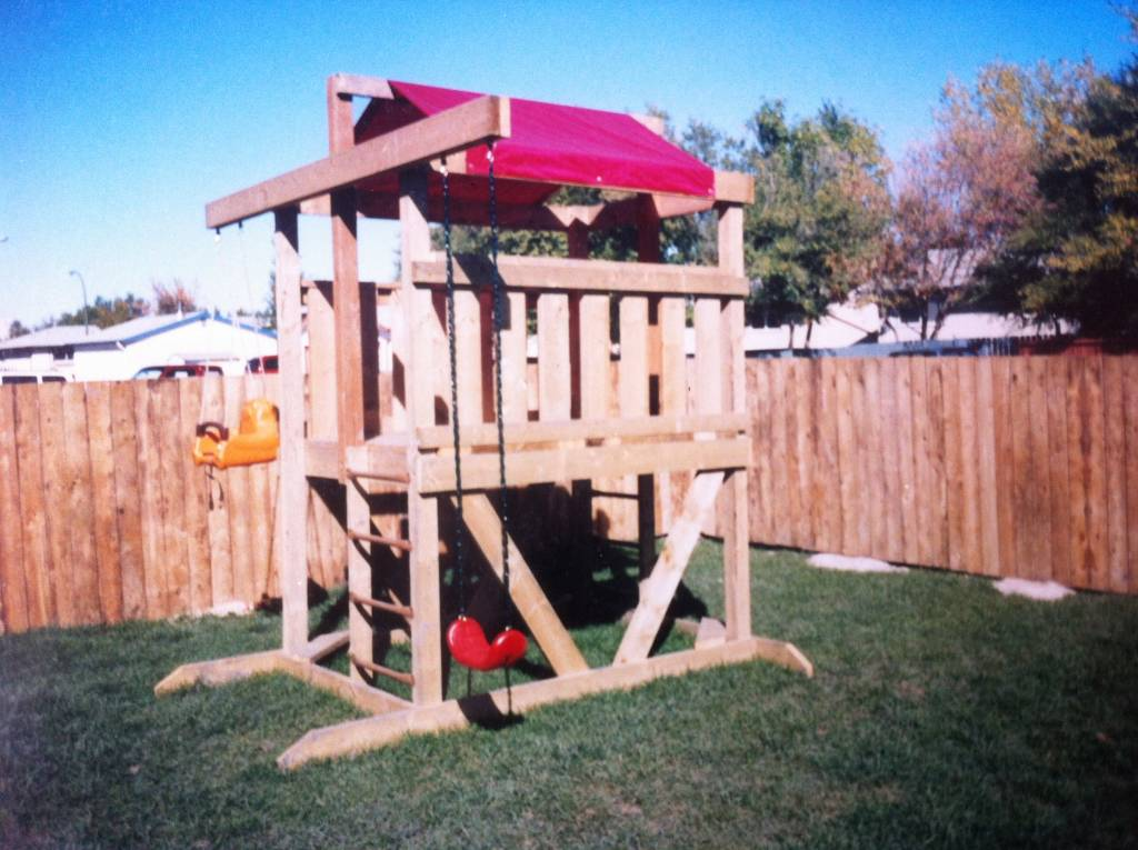 backyard playfort in Winnipeg