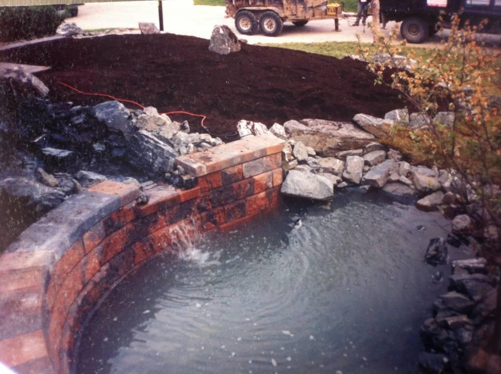 water feature rock garden