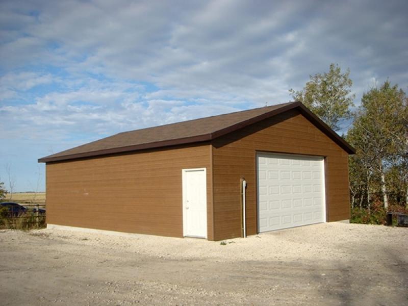 New garage construction.