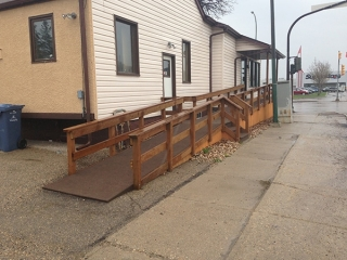 Wheelchair ramp and stairs at doctor's office (decks)