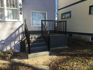 Trex composite front landing and stairs