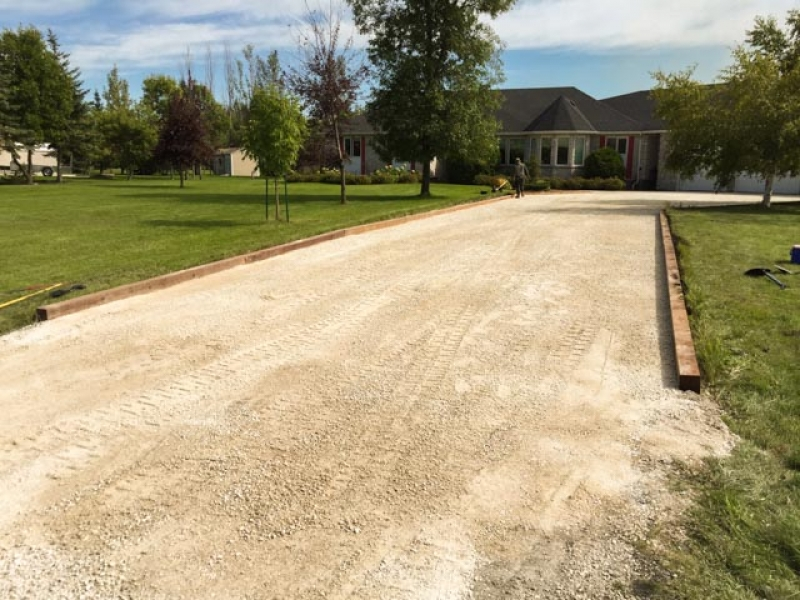 Rural driveway re-done with 20 inch limestone base