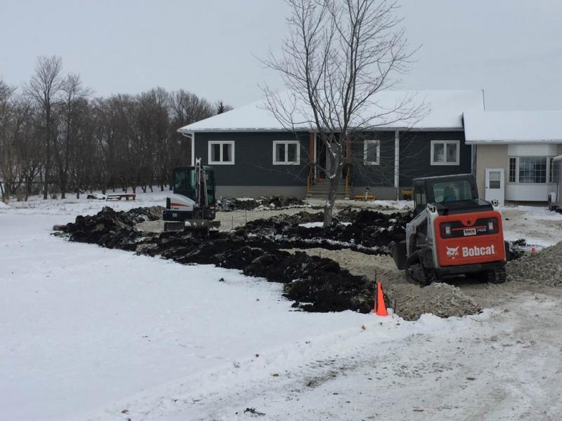 Rural driveway circle expansion