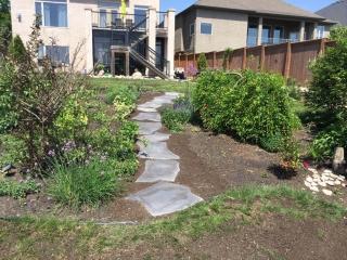 Grand Flagstone path through garden