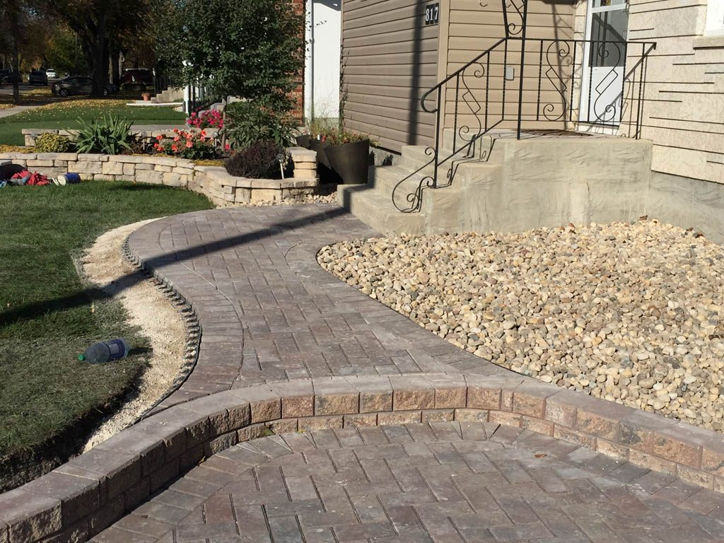 Holland paving stone driveway and front walk
