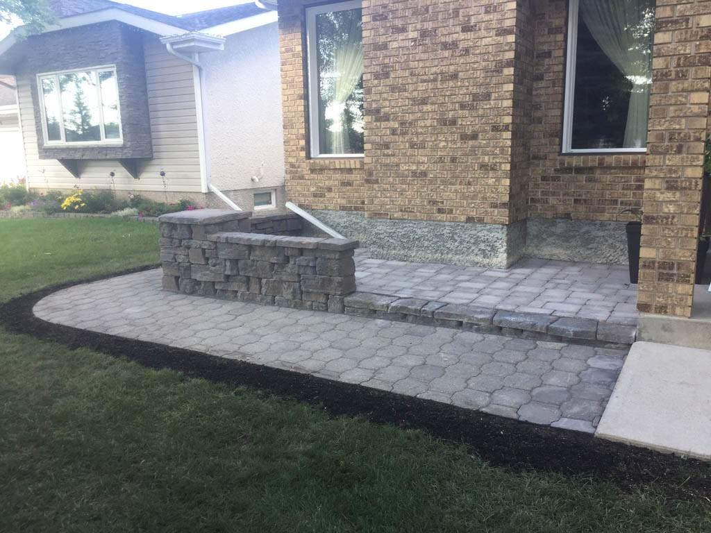 1st patios and walkways, retaining walls