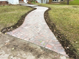 Front walk with Holland paving stones