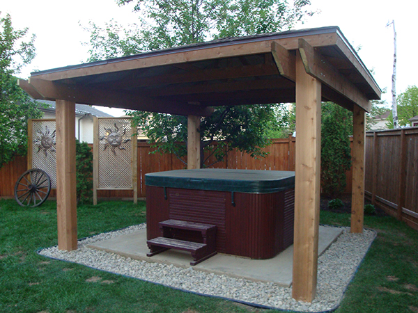 Hot tub shelter with 8x8 fir posts (outdoor wood structures).jpg