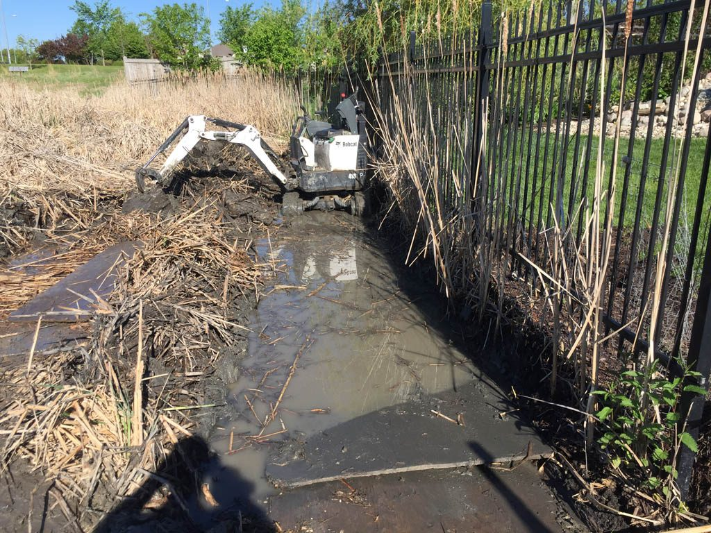 Erosion control for city lake lot