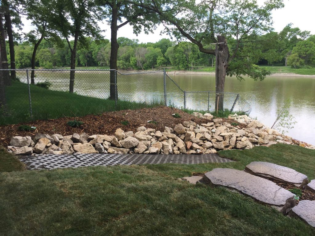 Sod, plants, mulch, etc for riverbank re-build