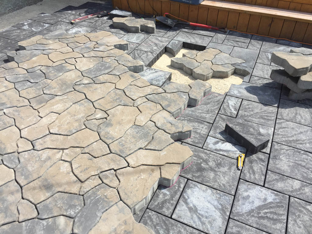 gallery g landscaping design and walkways d firepit patio contacting with stone