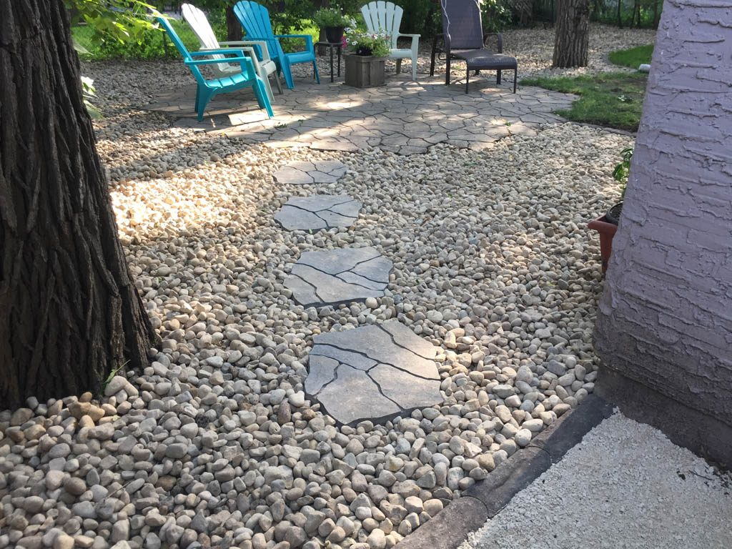 Flagstone steppers, boulders, granite edgers, etc
