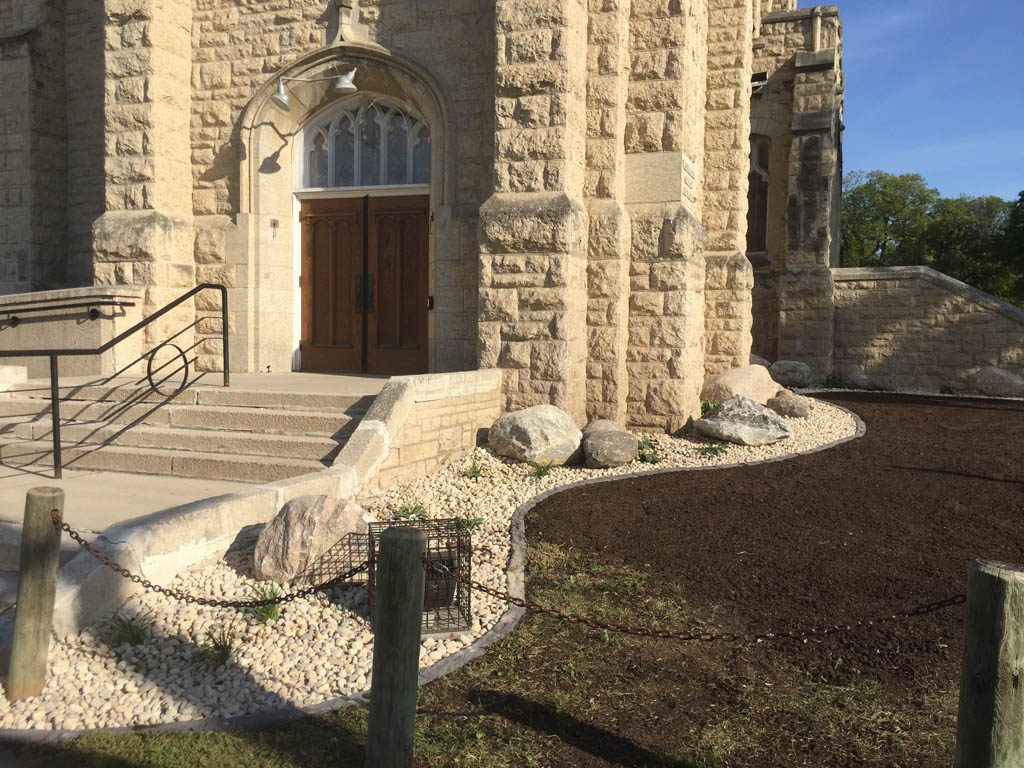 Boulders, plants, riverwash, etc for Westminster United Church