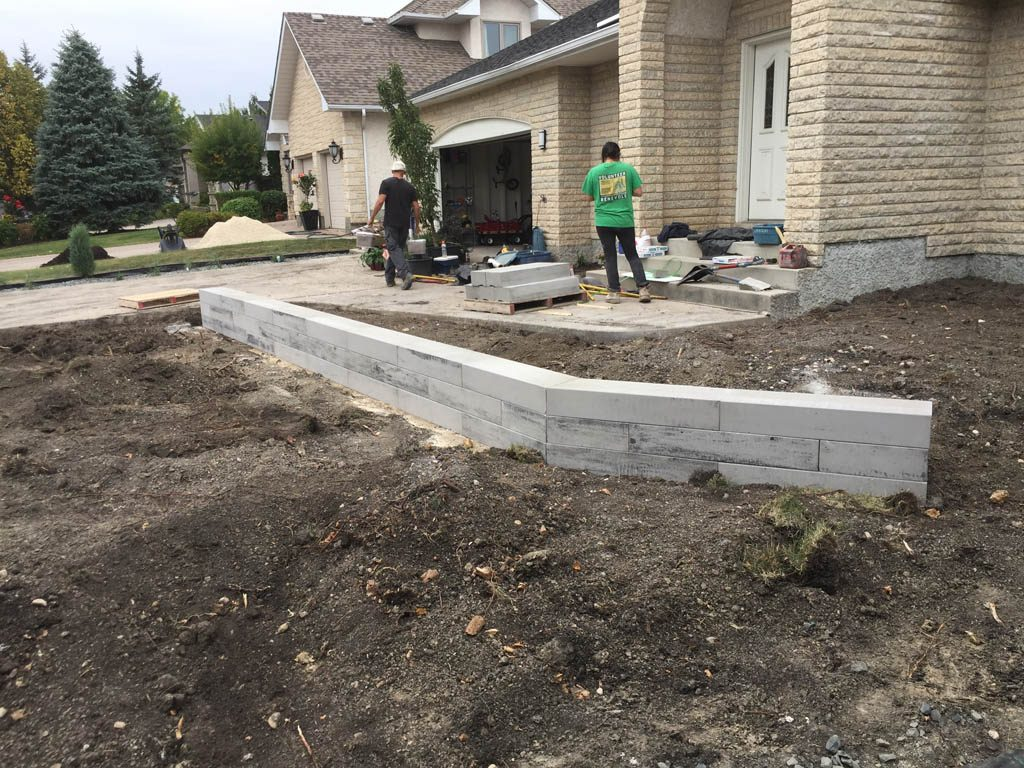 Front Yard Renovation With Architextures Retaining Wall