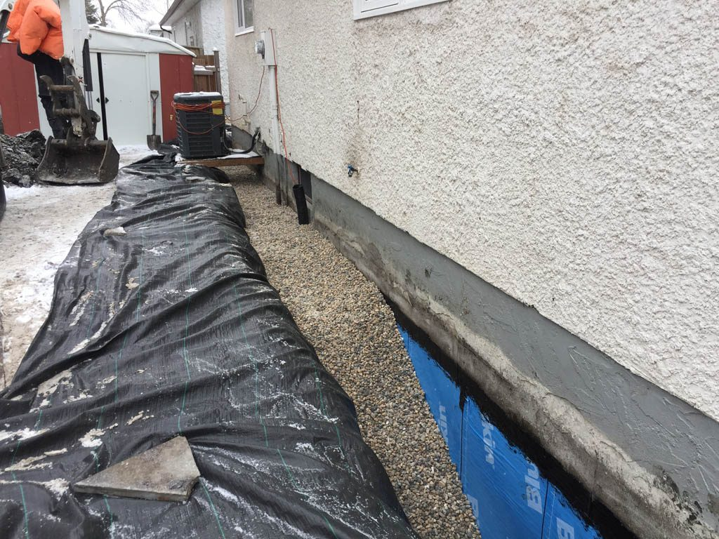 Excavation and backfilling for foundation repair