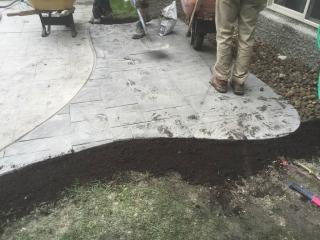 Navarro paving stone hot tub pad