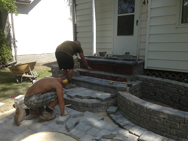Roman Pavers In Sierra Grey Glued Onto Existing Front