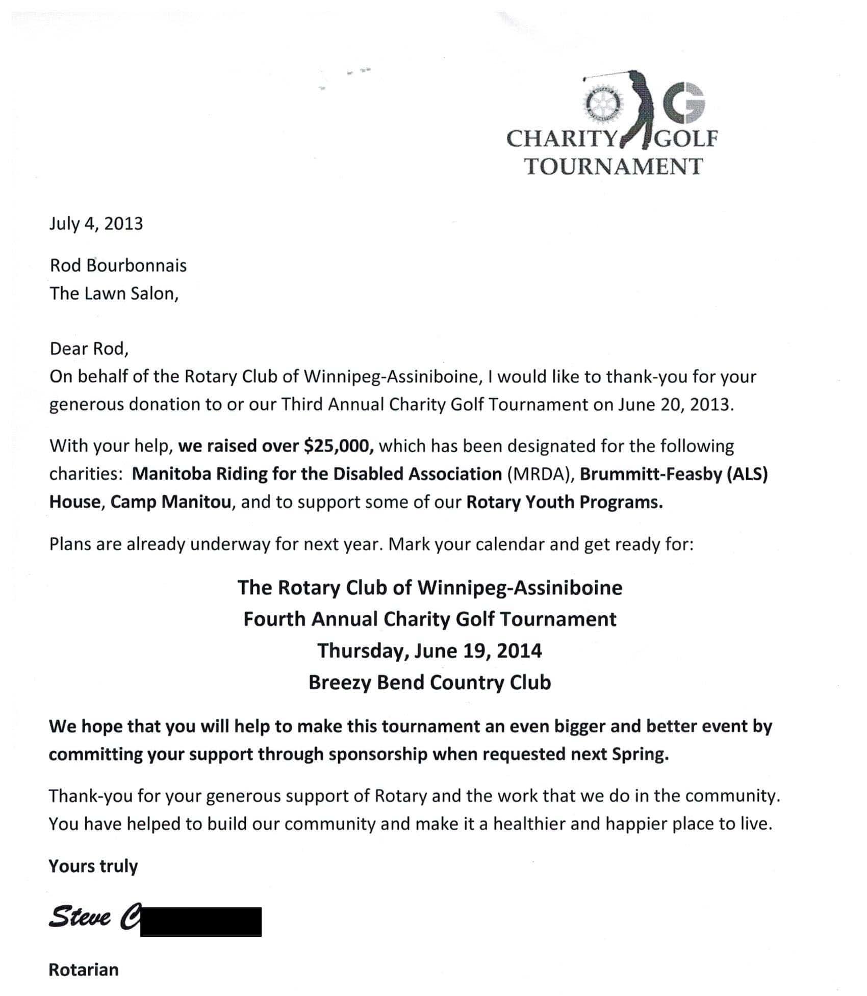 Rotary Club, July 4, 2013