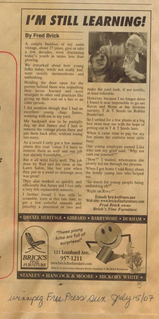 Winnipeg Free Press, July 15, 2007