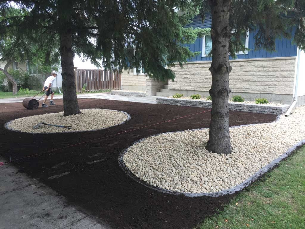 Rectangular Planters and Front Walk